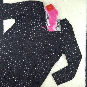 Sleepshirt And Sock Set Polka Dots Sz XXLarge